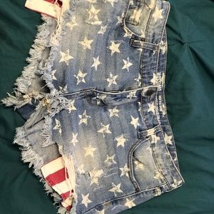 Mossimo Supply Co. Shorts - Mission High rise shorts : Stars and Stripes!